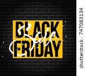 abstract vector black friday... | Shutterstock .eps vector #747083134
