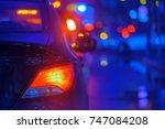 traffic jam at the city centre... | Shutterstock . vector #747084208