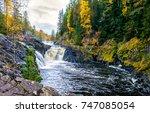 autumn mountain forest... | Shutterstock . vector #747085054