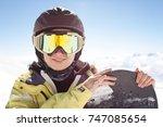 gudauri  georgia   march 2014 ... | Shutterstock . vector #747085654