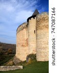walls and  tower of ancient... | Shutterstock . vector #747087166