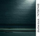 urban background. brick wall... | Shutterstock . vector #747087448