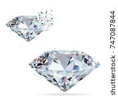 diamond isolated on white photo ... | Shutterstock .eps vector #747087844