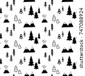 vector seamless pattern with...   Shutterstock .eps vector #747088924