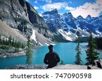 beautiful canadian lake | Shutterstock . vector #747090598