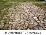 Ancient Winding Road Paved Wit...