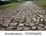 ancient road paved with... | Shutterstock . vector #747096850
