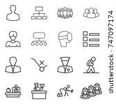 thin line icon set   man ... | Shutterstock .eps vector #747097174