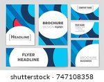 abstract vector layout... | Shutterstock .eps vector #747108358