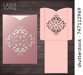 die laser cut wedding card... | Shutterstock .eps vector #747112969