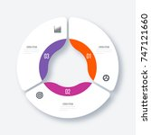 infographics template 3 options ... | Shutterstock .eps vector #747121660