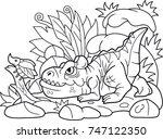 Funny Cartoon Allosaurus Hunts...