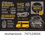 food truck menu for street... | Shutterstock .eps vector #747123034