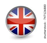 united kingdom flag round... | Shutterstock .eps vector #747126880