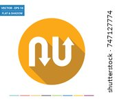 u turn arrows flat icon with... | Shutterstock .eps vector #747127774