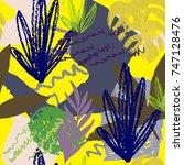 creative hand drawn textures.... | Shutterstock .eps vector #747128476