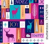 christmas bright seamless... | Shutterstock .eps vector #747129703