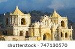 iglesia de la merced the... | Shutterstock . vector #747130570