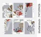 hand drawn creative universal... | Shutterstock .eps vector #747139426