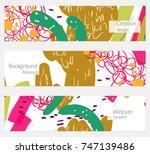 hand drawn creative universal... | Shutterstock .eps vector #747139486