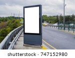 blank billboard on city street... | Shutterstock . vector #747152980