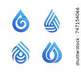 drops. elegant vector icons or... | Shutterstock .eps vector #747154066