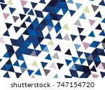 vector background with blue... | Shutterstock .eps vector #747154720