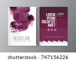 modern business brochure ... | Shutterstock .eps vector #747156226