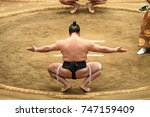 sumo sport man on the final... | Shutterstock . vector #747159409