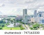 public residential condominium...   Shutterstock . vector #747163330