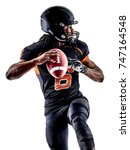 one american football player... | Shutterstock . vector #747164548