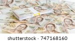 close up of thailand currency ...   Shutterstock . vector #747168160