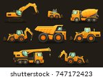 construction equipment  ... | Shutterstock .eps vector #747172423