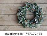 christmas wreath | Shutterstock . vector #747172498