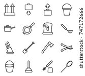 thin line icon set   cargo top... | Shutterstock .eps vector #747172666