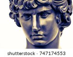 ancient male statue of mercury... | Shutterstock . vector #747174553