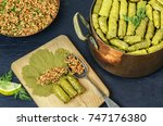 middle eastern food  arabian... | Shutterstock . vector #747176380