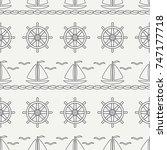 flat line monochrome vector... | Shutterstock .eps vector #747177718