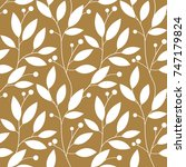 Floral Gold Seamless Pattern...