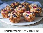 vegan gluten free oatmeal... | Shutterstock . vector #747182440
