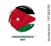 banner or poster of jordan...   Shutterstock .eps vector #747183250