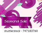 sale advertisement banner on... | Shutterstock .eps vector #747183760
