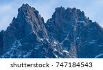 one of several peaks surround... | Shutterstock . vector #747184543