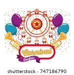 happy carnival design | Shutterstock .eps vector #747186790