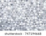 grey triangle abstract... | Shutterstock .eps vector #747194668