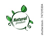 natural product logo   Shutterstock .eps vector #747195304