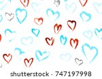 abstract valentine's day hearts. | Shutterstock . vector #747197998