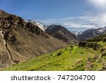 valley of azib likemt in the... | Shutterstock . vector #747204700
