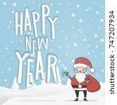new year  christmas  winter... | Shutterstock .eps vector #747207934