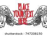 the head of a buffalo. bull...   Shutterstock .eps vector #747208150